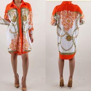 Dresses & Skirts - Print Shirt Dress